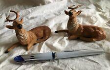 Pair Putz Metal Reindeer Deer Elk