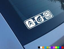 Citroen Plus Boost equivale a Sonrisas Auto Adhesivo Etiqueta Funny Saxo C2 Ax Vts Vtr Gt