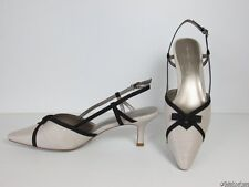 988878d9a6 New Jacques Vert Blonde Shoes ~ Black Detail   Bow Trim ~ UK 6 (39