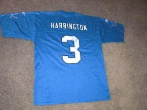 Detroit Lions JOEY HARRINGTON Football Jersey Reebok men's Large