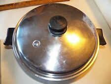 "T18B 11"" Electric Skillet, Lid, Cord, Salad Master TP304S SURGICAL STEEL"