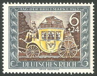 DR Nazi 3rd Reich Rare WWII Stamp 1943 Hitler Aniversary Briefmarke Post History