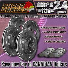 FITS 2004 2005 SUBARU IMPREZA WRX 2.0L Drill Slot Brake Rotors CERAMIC