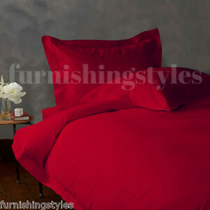 LUXURY RED COLOUR T200 EGYPTIAN COTTON FITTED SHEETS FLAT SHEETS PILLOW CASES