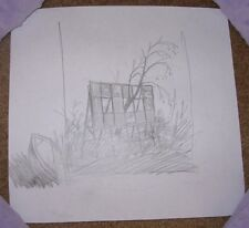 JUSTIN SANTORA Original graphite pencil Sketch Drawing Study for poster print