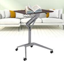 New listing Portable Mobile Rolling Laptop Cart Table Computer Stand Adjustable Desk Tablet