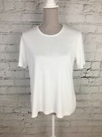 Womens TIGI WEAR White Short Sleeve Casual Top Size 14/16