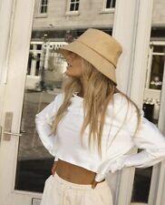 lack of colour Wave bucket hat camel