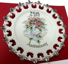 Twenty-Fifth (25Th) Wedding Anniversary Plate Norcrest Fine China P-39