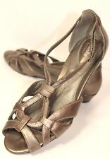 7149766e06d Clarks Artisan Womens 8M Gold Metallic Leather Strappy Open Toe Sandals