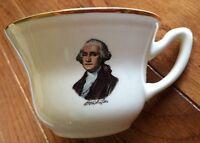 Vintage George Washington Souvineer Cup  Gold Trim