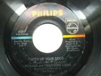 RICHARD AND THE YOUNG LIONS - Open Up Your door  45 RPM PHILLIPS 40381 Rare