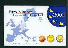 2002 GERMANY 8 Coin PROOF Euro SET 2€; 1€; 50;20 ;10 ;5 ;2 ;1 Cent BERLIN A Mint
