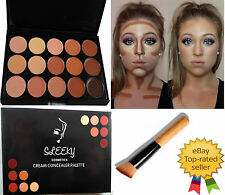 15 Color Concealer and Contour #2 with Brush Face cream Make up kit Palette CL2