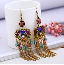 Fashion 1 Pair Elegant Women Crystal Rhinestone Ear Stud Fashion Earrings Chain
