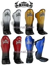 Top King  Shin Guards Supper Star Blue Red S M L XL Training  Muay Thai MMA K1