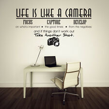 Life Camera Removable Vinyl Quote Wall Sticker Art Decal Home Decor DIY Mural
