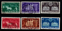 Luxemburg 1951 Mi. 478-483 Gestempelt 100% Europäische Einigung