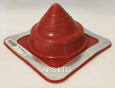 DEKTITE ORIGINAL ROUND ROOF FLASHING 108-190MM PIPE FLUES//RED SILICONE//HIGH TEMP