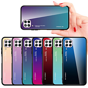 Cover For Samsung Galaxy A12 Original Case Gradient Glass + Tempered Glass