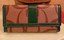 Designer Inspired Women's Gorgeous Faux Leather Clutch Long Wallet Green