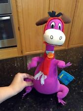 Toy Factory The Finstones Purple Dino plush holiday christmas red scarf RARE NWT