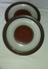 Denby Potters Wheel tan 8.25 inches (2 salad/side plates vgc