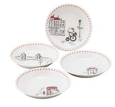 Hello Kitty London Pasta Plate 4 Pieces Set HK100-184 Yamaka from Japan