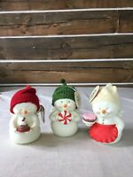 3 Assorted Enesco Snowpinions Sweet Angel Figures
