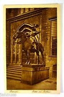alte Ansichtskarte Postkarte Künstlerkarte Bremen Ritter am Rathaus um 1950