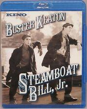 Buster Keaton! Steamboat Bill, Jr. Blu-ray Like New! Includes alternate version!