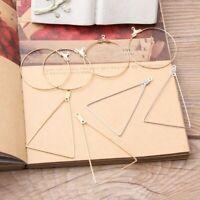 10Pc Circular Hoop Ring Blank Detachable Dangle Pendant for DIY Earrings Jewelry