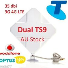 35dBi 3G 4G LTE Dual ANTENNA BOOSTER AERIAL Huawei E8372 TS9 plug&Cable AU stock