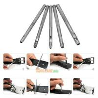 5pcs/lot Steel Hollow Punch Set DIY Tool Gasket Belt Hole Punching Leather Craft