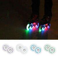 2 Pieces 80mm LED Bright PU Inline Speed Skateboard Wheels Flash Rollers Rodas