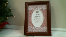 Wood Picture Frame w Verse The Love Between Mother & Daughter