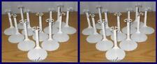 24 White Action Figure DISPLAY STANDS fit 7 & 8 Inch NECA & MEGO