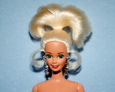 GREEN-EYED Open Mouth NUDE Up Do Platinum Blonde Twist and Turn BARBIE for OOAK