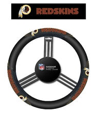 Washington Redskins Black Vinyl Massage Grip Steering Wheel Cover
