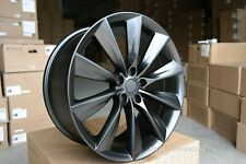 New 4x 22 inch 5x120 TURBINE style BLACK MATT alloy wheels for TESLA MODEL X S