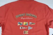$158 NEW Tommy Bahama Flags of Leisure Signature Camp Shirt MENS MEDIUM RED SILK
