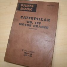Cat Caterpillar 12f Motor Road Grader Parts Manual Book 13k 33k Series Catalog