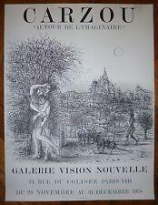 Carzou Jean affiche en lithographie 1978 autour de l'imaginaire Paris Arménie