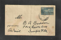 1930s QUBA AIR MAIL COVER Scott # C5