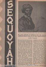 Sequoyah Cherokee Originator of Indian Language+Gist,Chief Jolly,Oonoleh