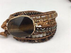 Fashion Women jewelry natural Stone crystal Armband wrap Bracelets jewelry gift