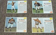 1962 POST CLEVELAND BROWNS/LOT OF 4 CARDS VERY NICE LOT