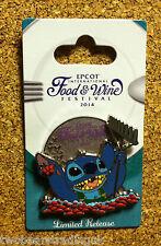 Disney Pin: WDW 2014 Epcot International Food & Wine Festival – Stitch
