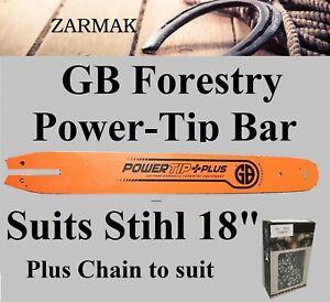 "18"" GB Power-Tip Chainsaw Bar And CHAIN 325 063 Fits STIHL OLEO MAC EFCO ALPINA"