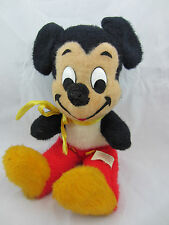 "vintage Mickey Mouse stuffed toy plush Calif Stuffed Toys Walt Disney  15"" sits"